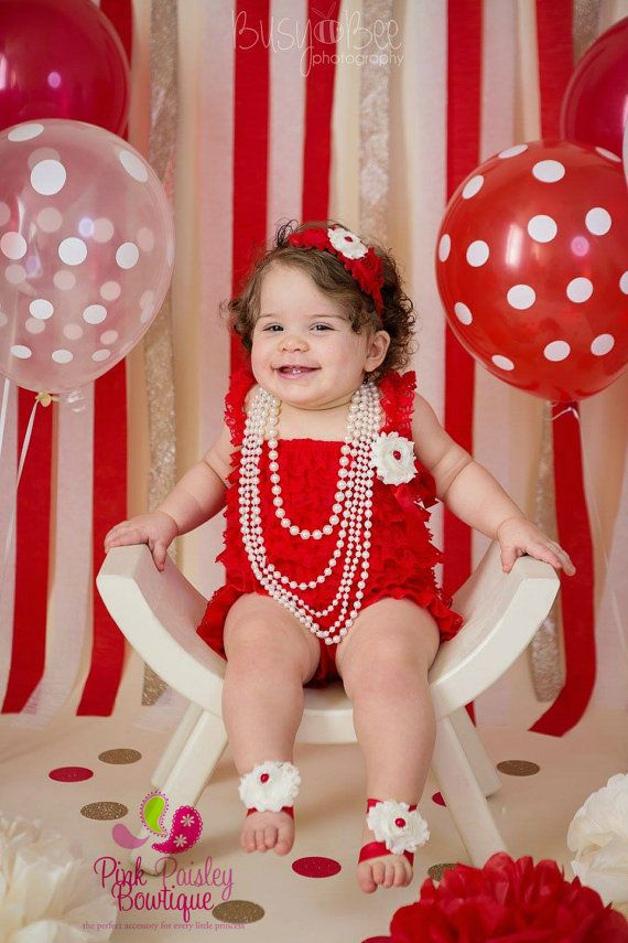 Elmo 1st Birthday Outfit  Baby Girl Clothes by Pinkpaisleybowtique