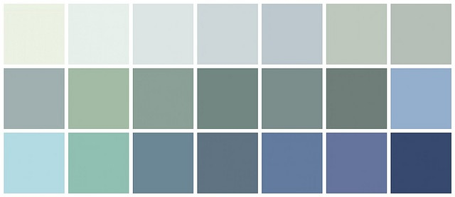 Farrow ball paint blue colors top row left to right for Light blue paint colors