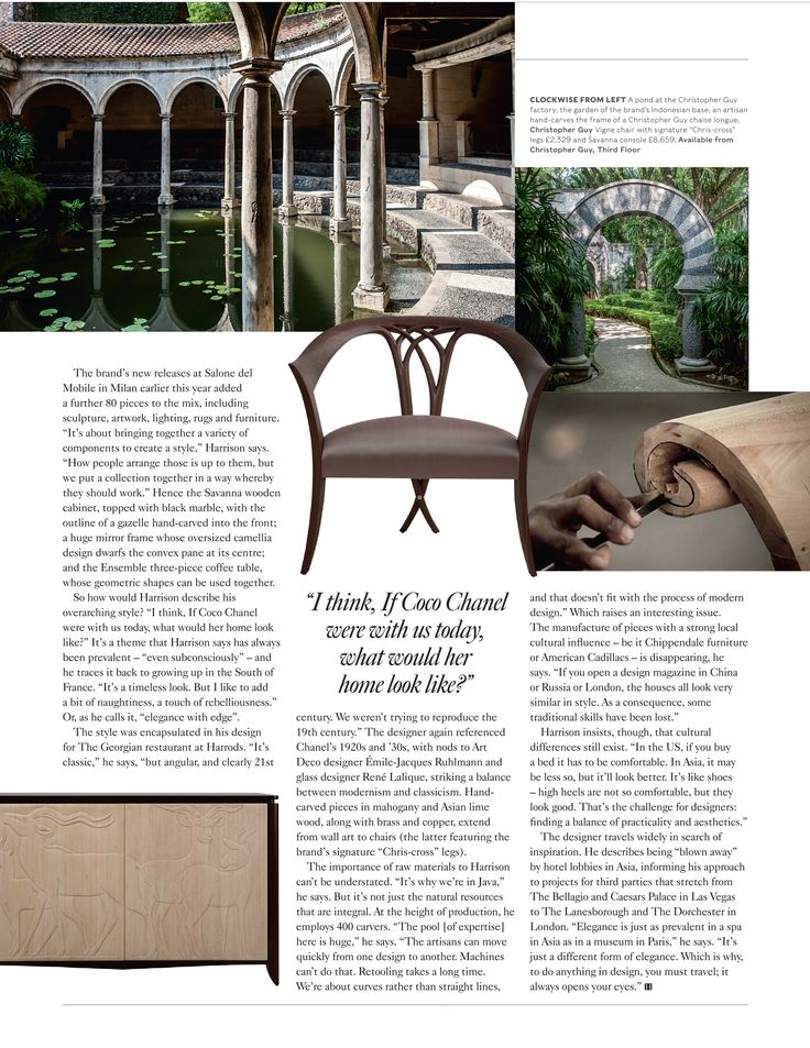 Article AHEAD OF THE CURVE Featuring ChristopherGuy As Seen In Harrods Magazine
