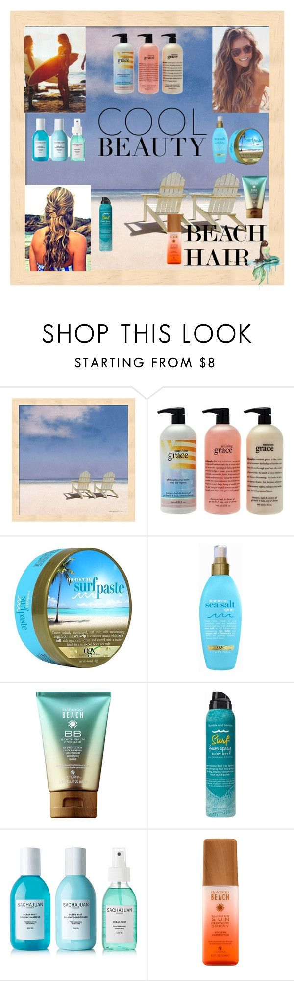 """Beach Hair #3"" by kikikoji ❤ liked on Polyvore featuring beauty, Surfer Girl, philosophy, Organix, Bumble and bumble, Sachajuan and beachhair"