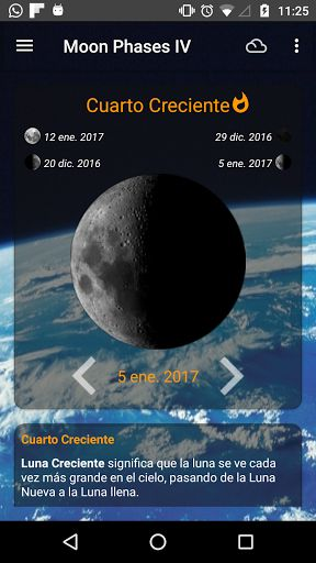 Moon Phases Pro v4.1.3 Pro [Paid]   Moon Phases Pro v4.1.3 Pro [Paid]Requirements:4.0.3Overview:Moon Phases shows the current Moon phase. You can see the Moon phases day by day the whole week the month and see a lot of information about the current Moon phase.  Moon Phases shows the current Moon phase. You can see the Moon phases day by day the whole week the month and see a lot of information about the current Moon phase.  Share your comments and likes with your friends and others…