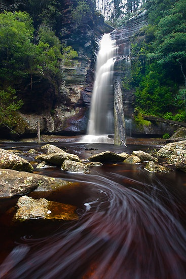 Snug Falls, Tasmania by Alex Wise  One of my favourite little waterfalls in the state.