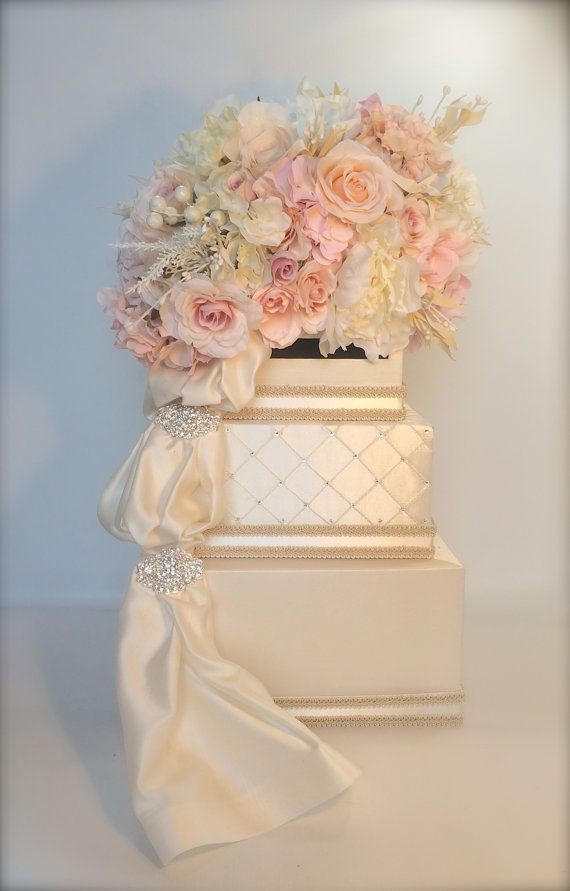 ... Wedding Card Holder Wedding Card Box Secure Lock Silver Three Tier