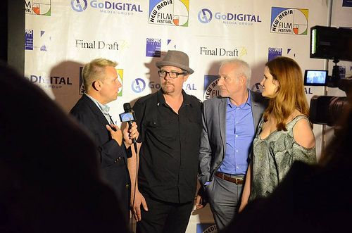 On Red Carpet w Host Harrison. Elegy for a Revolutionary Producers. Pic-FJPhotography