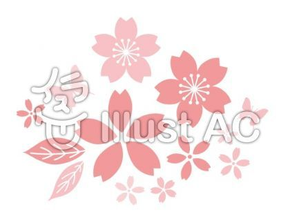 桜 ポイントデザインイラスト