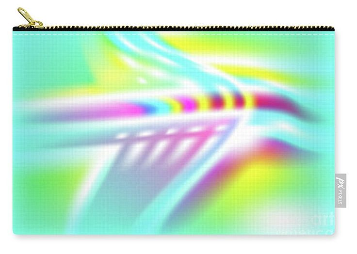 Ufo Carry-all Pouch featuring the digital art UFO by Ron Labryzz