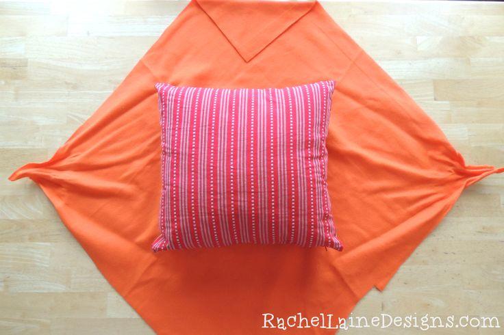 Easy DIY No Sew Pillow Cover