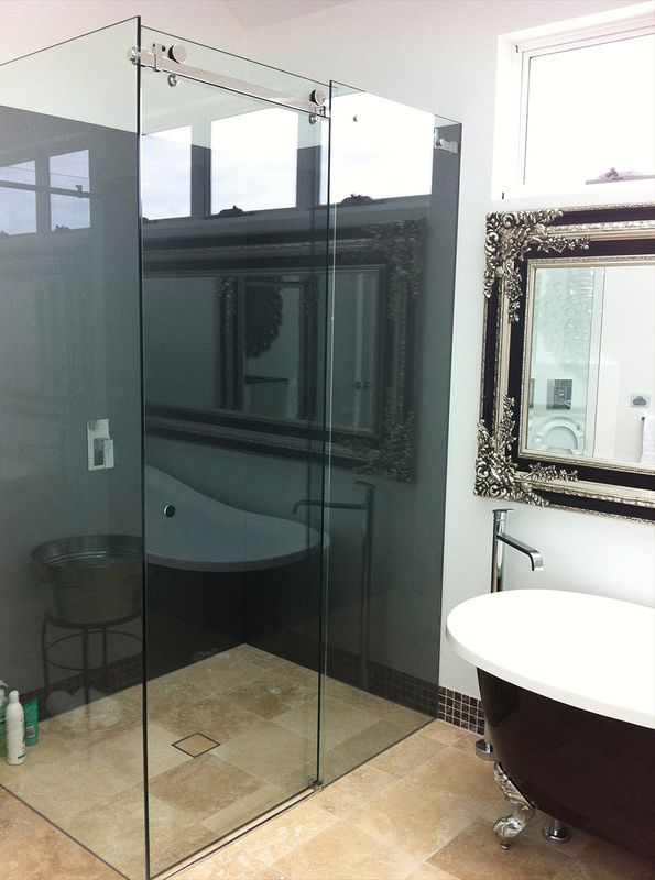 Frameless Glass Slider Shower Screen
