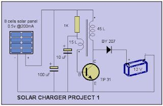 Solar charger circuit project