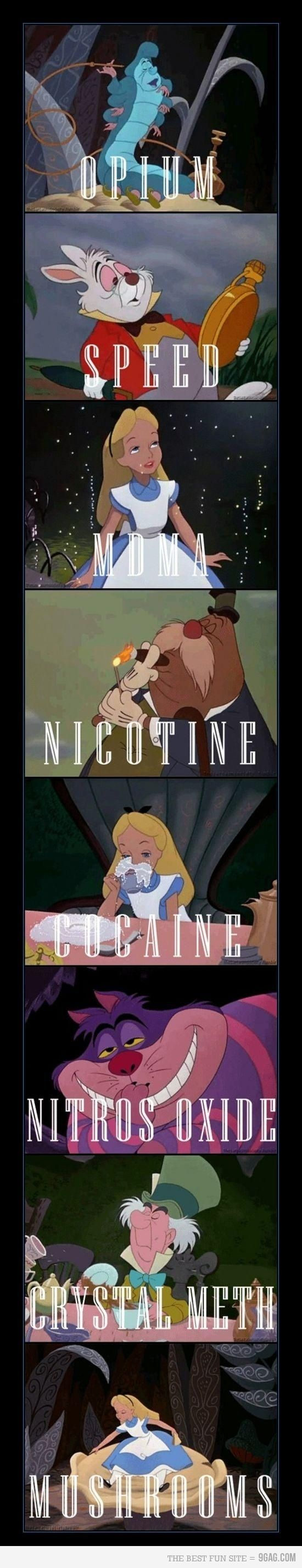 The many drugs of Wonderland...What no marijuana!
