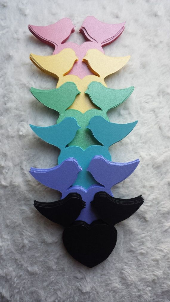 Love Birds & Heart Pearl in 6 different colors name by NessysDecor