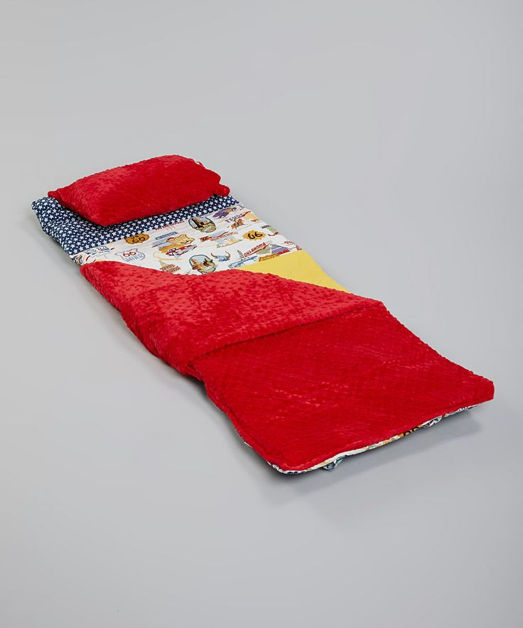 Take a look at this Janiebee Red & Yellow Route 66 Quilted Nap Mat on zulily today!