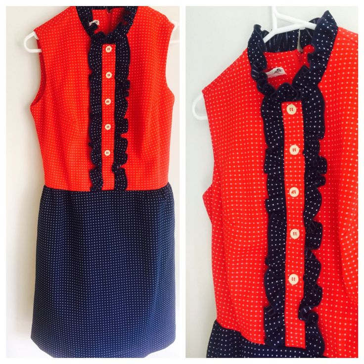 Cute as a button. Sixties spots and a ruffle dress by MrsJoyful on Etsy https://www.etsy.com/listing/244164085/cute-as-a-button-sixties-spots-and-a