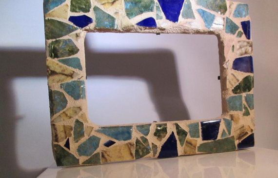 Handmade Mosaic Picture Frame - Fits 4x6 Photo