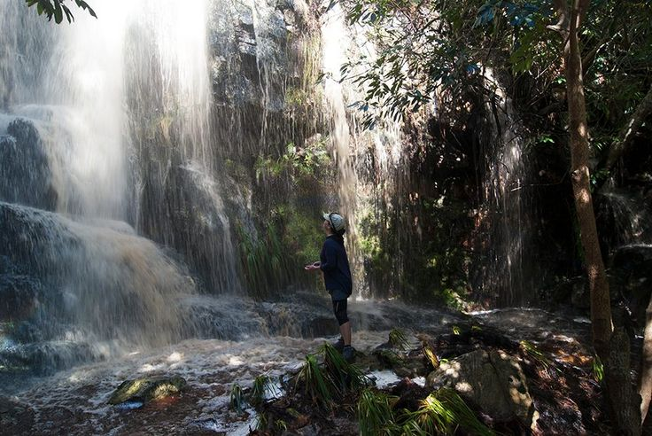 The waterfall at Silvermine in Cape Town on Sunday :)