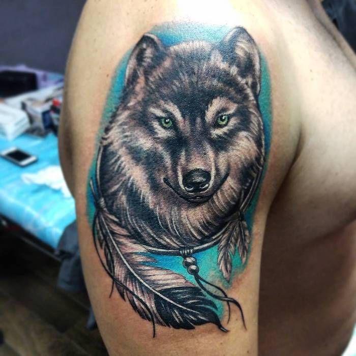 ▷ 1001 + modèles de tatouage loup pour femmes et hommes | tatoo