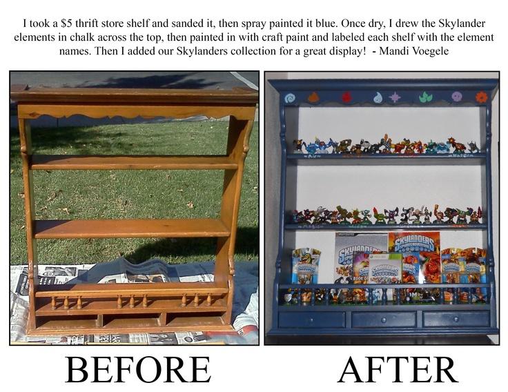 DIY Skylanders Collection Shelf