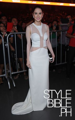 "Filipina actress Marian Rivera wearing her Rafe ""Lizelle"" minaudiere as featured in Style Star 