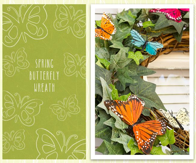 Spring Butterfly Wreath | Wreaths | Pinterest | Wreaths