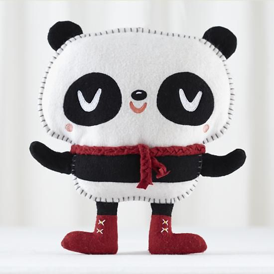 The Land of Nod   Kids Stuffed Animals: Crowded Teeth Hug the Panda Doll in Dolls & Plush Toys