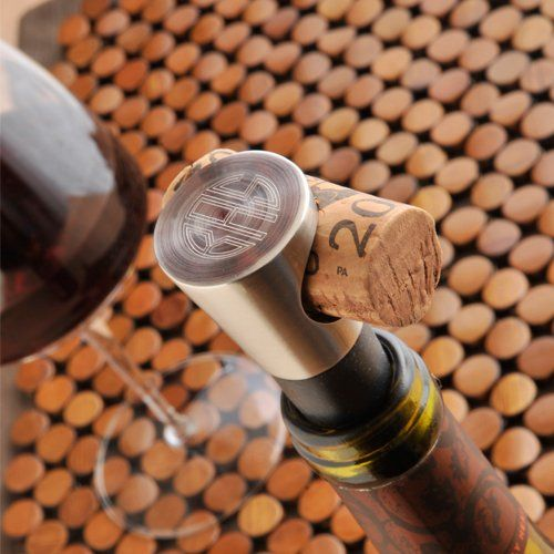 Monogrammed Vintage Wine Stopper by Beau-coup