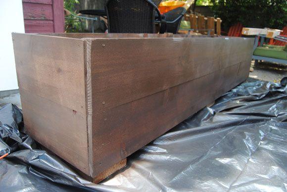 Diy Custom Planter Boxes Great To Make A Narrow Box To
