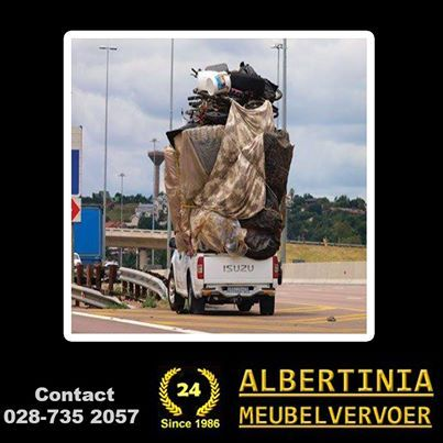 Albertinia Meubelvervoer was established in 1986 and handles furniture removal and transport to and from the Garden Route to anywhere in South Africa. #transport #furniture #removals