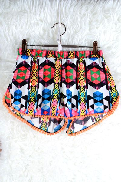 Colorful Aztec Shorts #swoonboutique