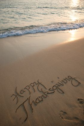 Coastal Thanksgiving  - sentiment on the seashore... Have a good one!