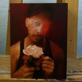 """#JeanPaulMallozzi work in progress on a tiny 8"""" x 6"""" #oil #painting."""