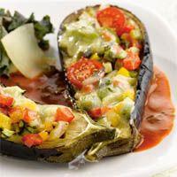 Aubergines farcies aux légumes - recette libanaise