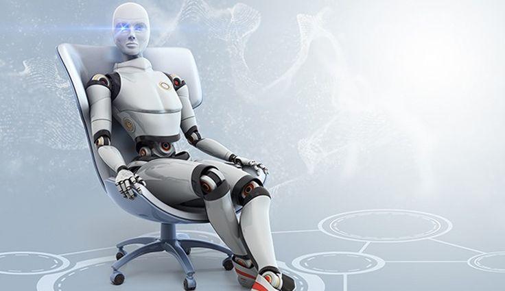 Картинка робот держит
