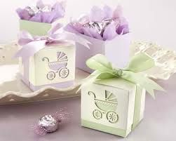 Laser-cut Baby Carriage Favour Boxes Christening Bomboniere