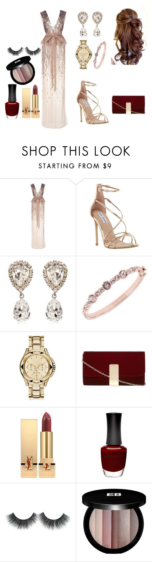 """""""Untitled #17"""" by hajar-111 on Polyvore featuring Monique Lhuillier, Steve Madden, Dolce&Gabbana, Givenchy, Karl Lagerfeld, Dorothy Perkins, Yves Saint Laurent, Nanacoco and Edward Bess"""