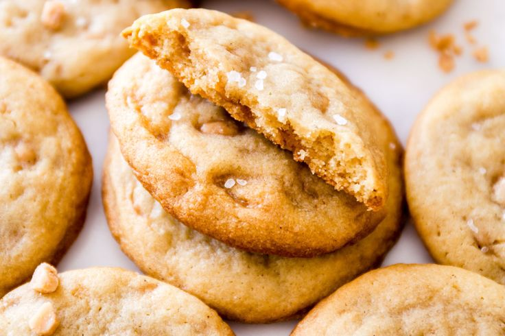 You've Never Tasted Anything Like These Salted Vanilla Toffee Cookies