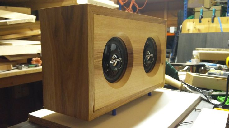 Oak and ash bluetooth speaker I made for the wife's birthday #handmade #crafts #HowTo #DIY
