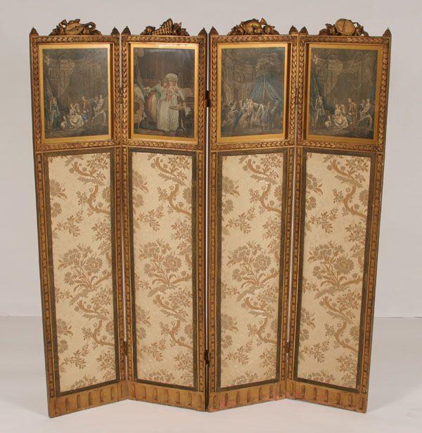 Best antique panel dressing screens images on pinterest
