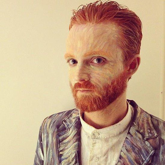 Van Gogh DIY Halloween Costume.  Source: Imgur user josh1510
