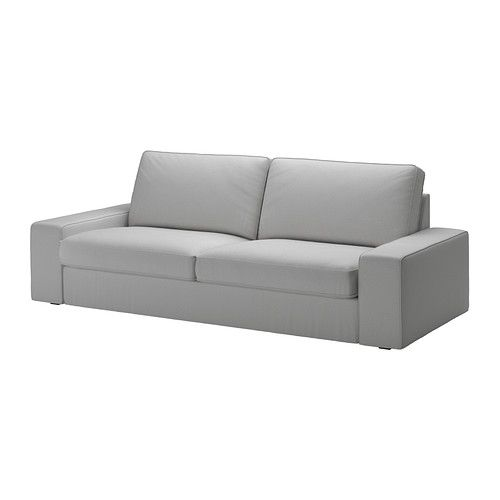 IKEA - KIVIK, Sofa, Orrsta light gray, , KIVIK is a generous seating series with a soft, deep seat and comfortable support for your back.Seat cushions have a layer of memory foam that softly follows the contours of your body and gives comfortable support where needed.It is easy to combine the sofa with one or more chaise lounges thanks to the removable armrests.The cover is easy to keep clean as it is removable and can be machine washed.Durable, cotton and polyester cover with texture and a…