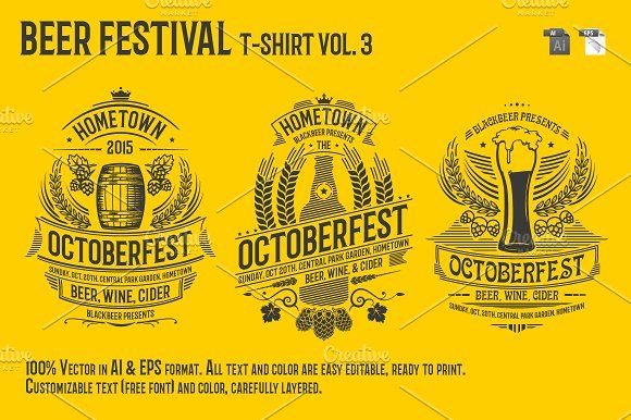 Beer Festival T-Shirt Vol. 3 by Rooms Design Shop on @creativemarket