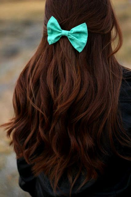 brown hairBlue Bows, Hair Colors, Dark Hair, Long Hair, Tiffany Blue, Longhair, Hair Style, Hair Bows, Brown Hair