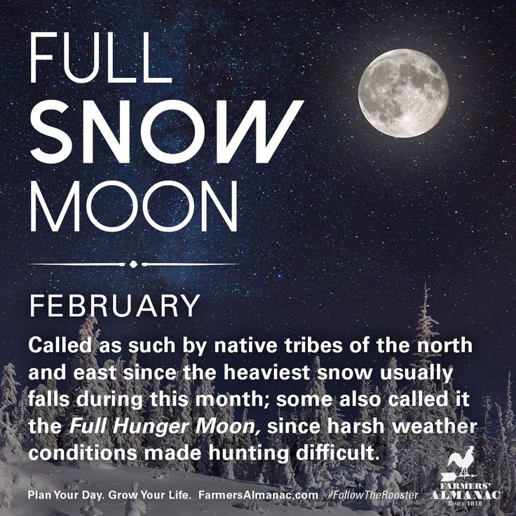 February's full Moon, like other full Moons, is rich in folklore and therefore was given many names. Watch our short video to learn the origin behind this full Moon's names: https://www.farmersalmanac.com/february-full-snow-moon-18217  #fullmoon #folklore #legends #NativeAmerican #astronomy #stargazing