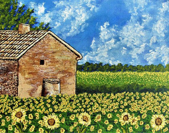 Brightscapes: The Way To Beauty  Sunflowers In Provence France, 2018 https://www.etsy.com/listing/250377324/sunflowers-in-provence-france-original  We take our time leaving Avignon. We sit in a little cafe as we talk about our plans for the day. All the villages we'll see. The quaint farms. All the food. But nothing prepared us for the beautiful fields of sunflowers making their surroundings even brighter. What will we find in Cannes and Nice?  My work on view at:  Bausch+Lomb Rochester…