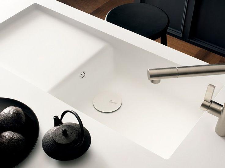 Single Corian® sink Corian® TOWNHOUSE STYLE by DuPont de Nemours Italiana…