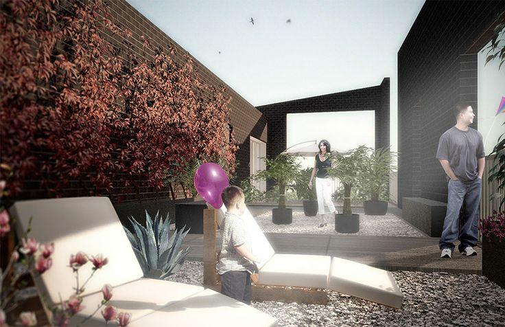 Progetto residenziale, terrazza privata - Brescia
