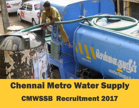 CMWSSB Recruitment 2017-Chennai Metropolitan Water Supply & Sewerage Board/ Deputy Controller of Finance, Senior Accounts Officer, Assistant Engineer & Junior Assistant/ Total Vacancies 322/ Last Date: 06.03.2017 Chennai Metropolitan Water Supply & Sewerage Board (CMWSSB) invites application for the posts of Deputy Controller of Finance, Senior Accounts Officer, Assistant Engineer and Junior Assistant. Totally 322 …