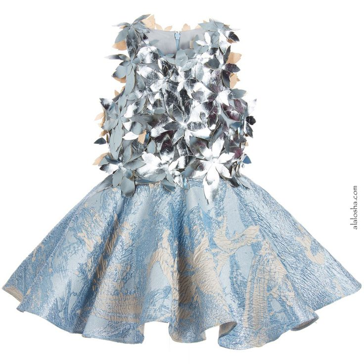 ALALOSHA: VOGUE ENFANTS: Must Have of the Day:Girls Metallic Blue & Silver 'It's Magic' Dress by Mischka Aoki