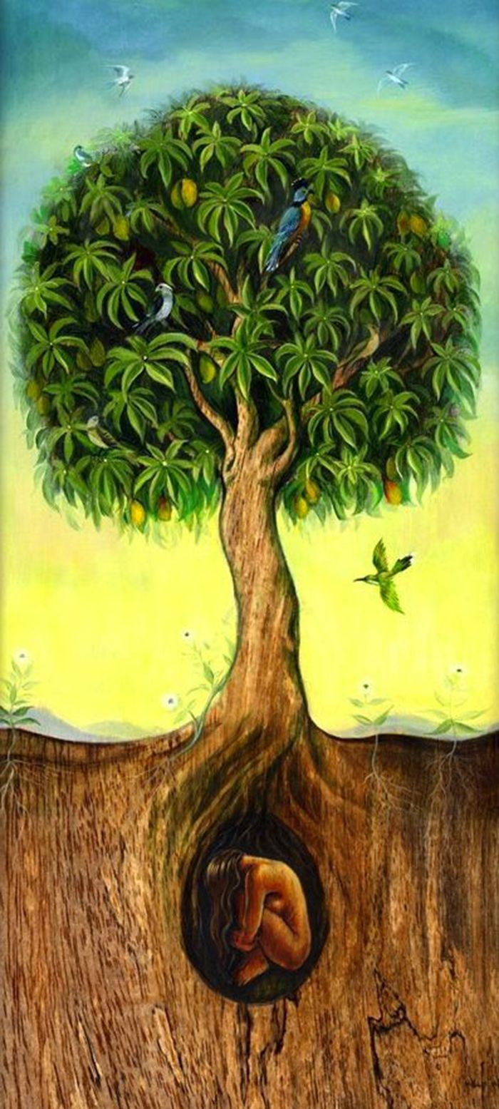 35 best THE TREE OF LIFE. Painting images on Pinterest | Nature ...