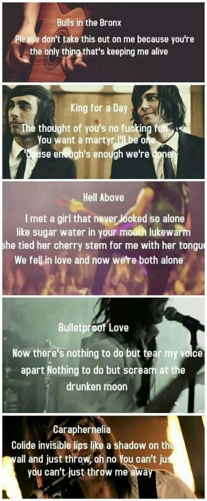 Pierce the Veil lyricsr  Take time and read them. If you know all of them your a boss