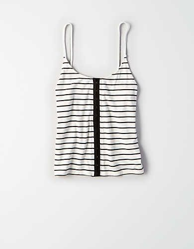 6f9fb7c60d6f AE ESSENTIAL RIBBED HOOK-AND-EYE TANK   Outfits in 2019   Mens outfitters,  Clothes for women, Tank tops